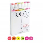 Набор BRUSH Touch Twin 6 цветов флюр