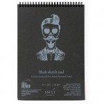 Альбом-SMLT SKETCH PAD Black, A5, 20л., 165г/м, на спирали, для эскизов, арт.5EB-20TS/BLACK