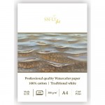 Альбом-SMLT PROFESSIONAL WATERCOLOR PAD (100% cotton) A4, 10Л, 300г/м, склейка, для акварели,