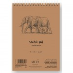 SKETCH PAD Natural Brown, 135г/м, 80л. для эскизов